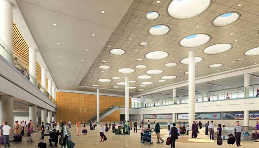 The terminal is already setting a striking example of environmentally conscious building design in Manitoba and the airport industry worldwide.