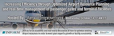 Free Webinar: Optimized Resource Management for Airports – Managing the Physical & Fiscal Constraints