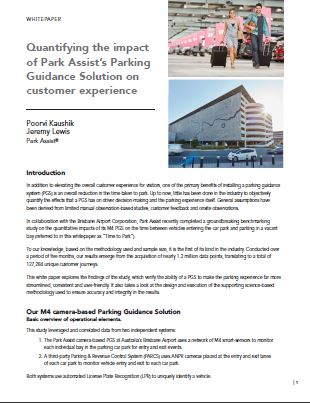 Quantifying the impact of Park Assist's Parking Guidance Solution on customer experience