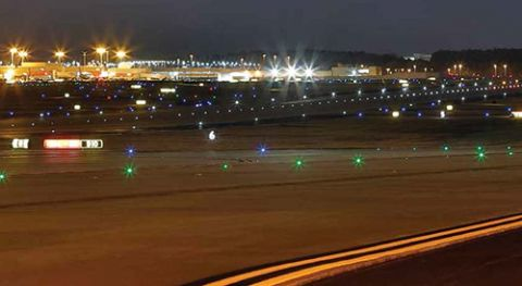 atlanta int l goes all in with led lighting new airfield markings