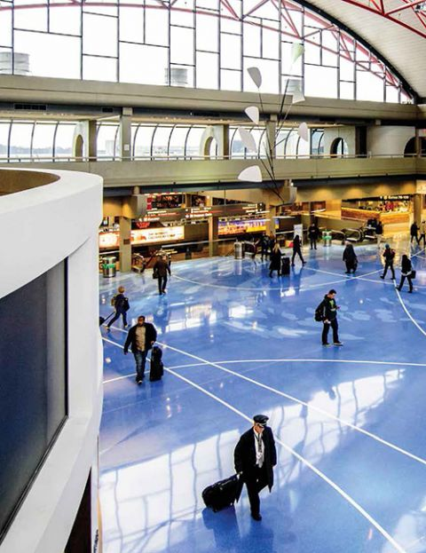 Pittsburgh Int L Installs Terrazzo With Extra Razzle Dazzle