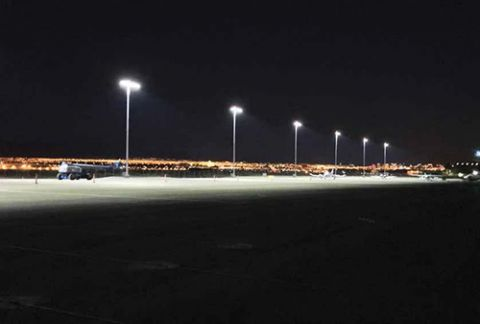 henderson executive installs led ramp lights airport improvement