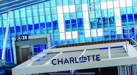 Concourse Expansion at Charlotte Douglas Int'l Fuses Technology & Artistry