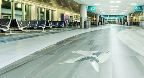 Airports Use Decorative Flooring to Create Sense of Place
