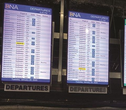 Updated Info & Public Address Systems Reflect the New Vision at Nashville Int'l