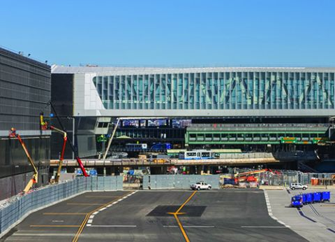Pedestrian Bridge Facilitates Construction of New Arrivals & Departures Hall at LaGuardia Terminal B