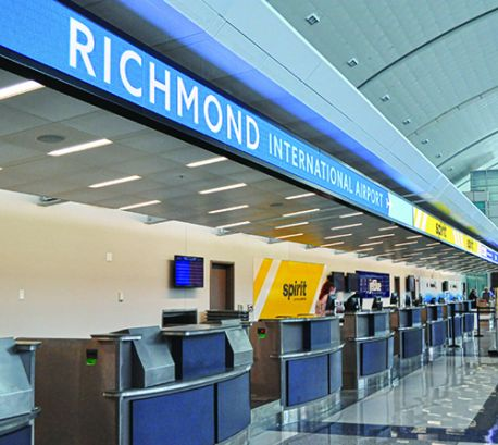 Dynamic Digital Display Illuminates New Check-in Canopy at Richmond Int'l