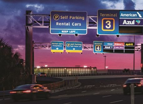 Fort Lauderdale-Hollywood Int'l Updates Signs for Motorists
