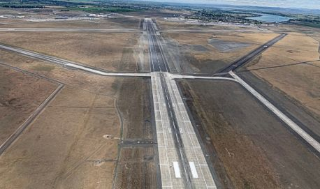 Grant County Int'l Flattens Hump in Runway